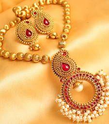 Buy GORGEOUS KEMP MANGO CLUSTER NECKLACE SET necklace-set online