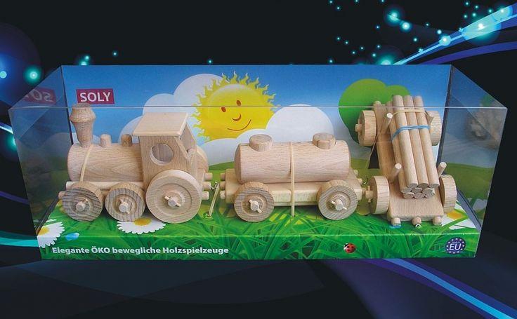 Dětský nákladní vláček s odpojitelnými vagónky v krásném panorama balení vše české výroby. skladem