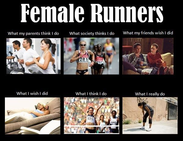 Funny memes and images for women and girls who run