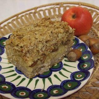 Pohankový koláč s jablky a drobenkou