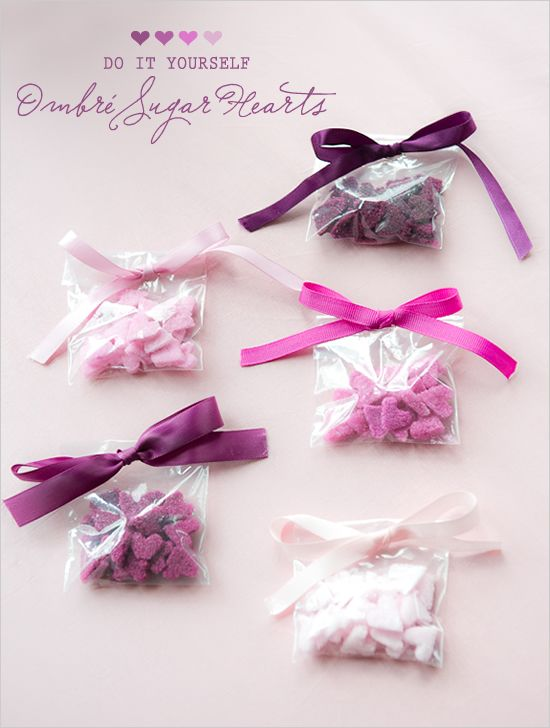 These seem appropriate for the impending day of love ... diy ombre sugar hearts. http://www.weddingchicks.com/2012/01/27/diy-ombre-sugar-hearts/