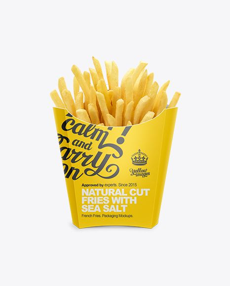 french fries packaging template - mediume paper french fries box mockup preview templates