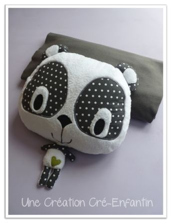 big headed panda bear pattern and there's a kitty cat as well