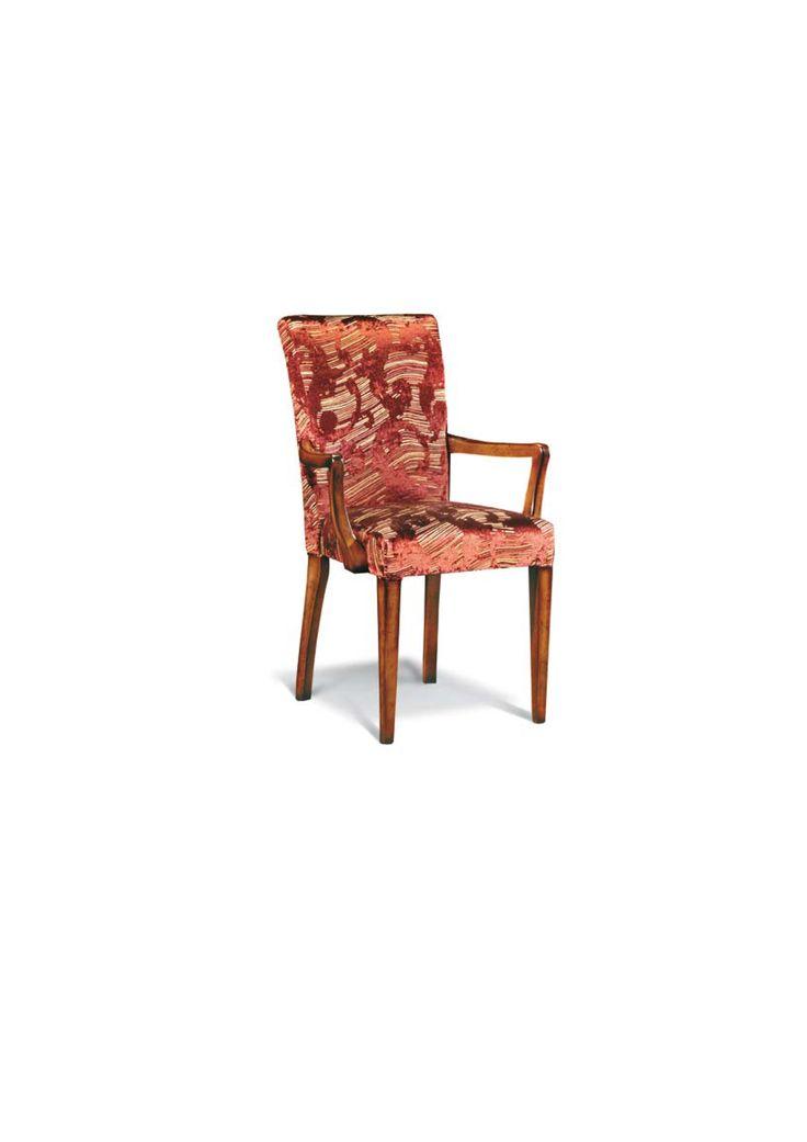 Scaun din lemn masiv art 504p Upholstered Chair Meggoirini Santino Collection
