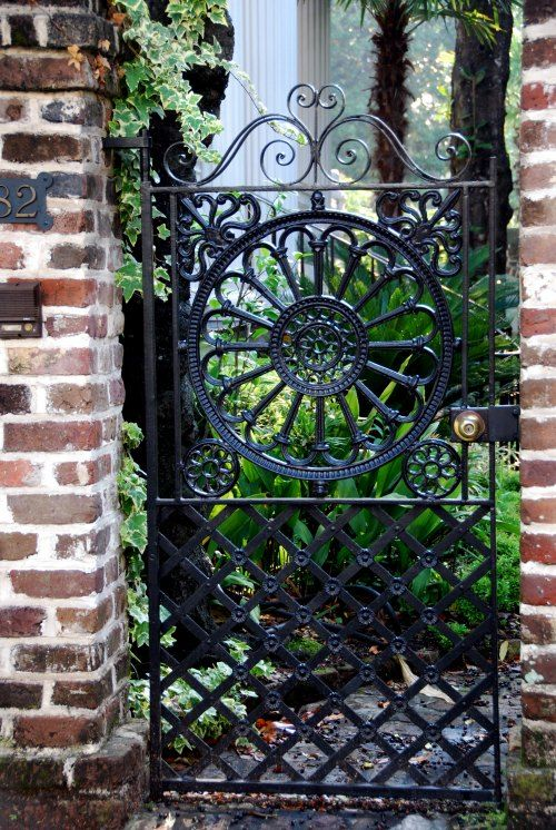 gorgeous wrought iron door <3