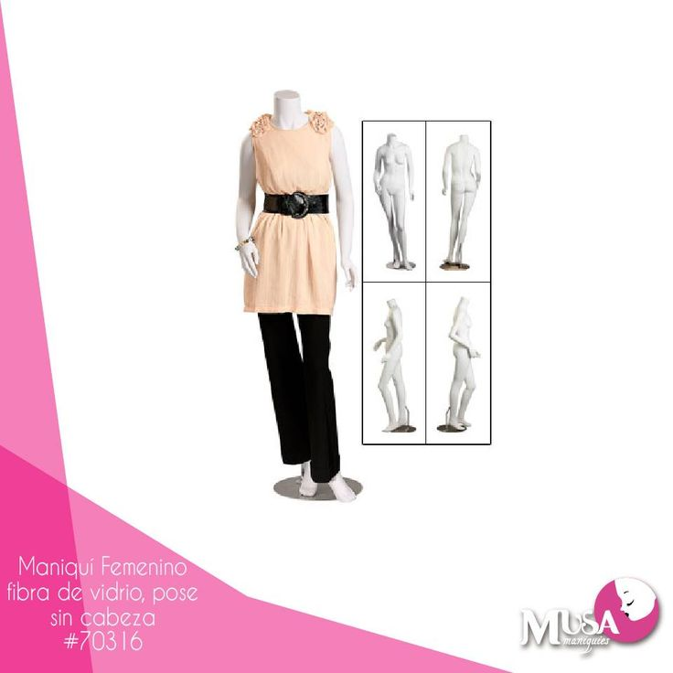 Encuentra en #MusaManiquíes una gran diversidad de modelos como nuestro maniquí en fibra de vidrio sin cabeza que les dará un toque único a tus prendas.