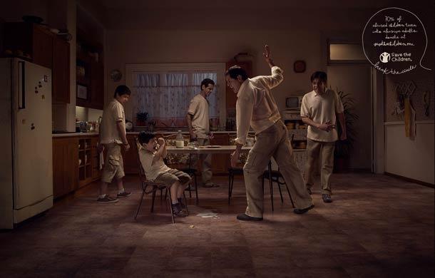 « 70% des enfants maltraité deviennent à leur tour des parents violents« . Une campagne de sensibilisation mexicaine très bien maitrisée sur un sujet difficile a aborder, traité ici sous forme de cercles vicieux.