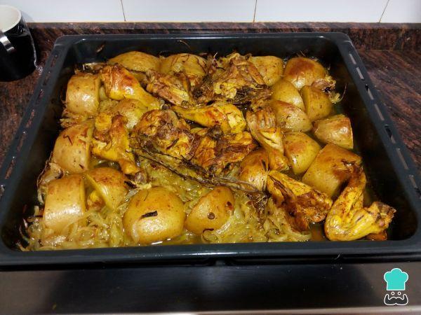 Receta de Pollo al horno con cúrcuma - Fácil