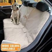 Hampton Sand Bench Seat Cover Protects Car From Dog