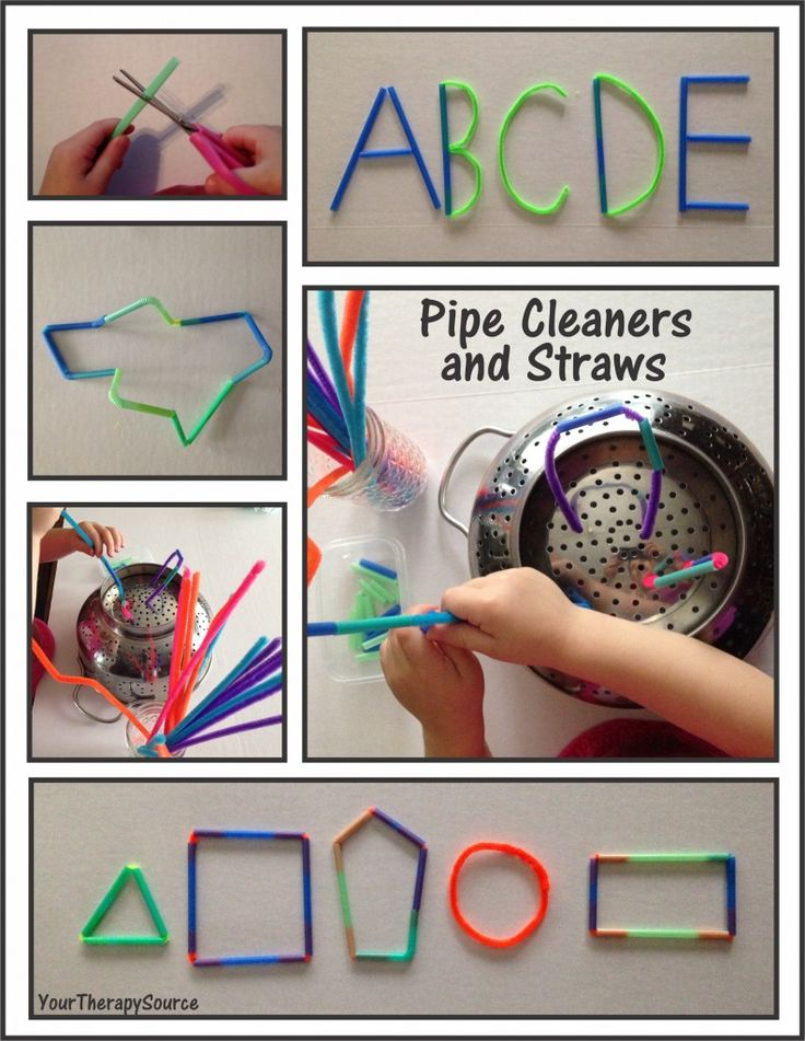 pipe cleaners and straws