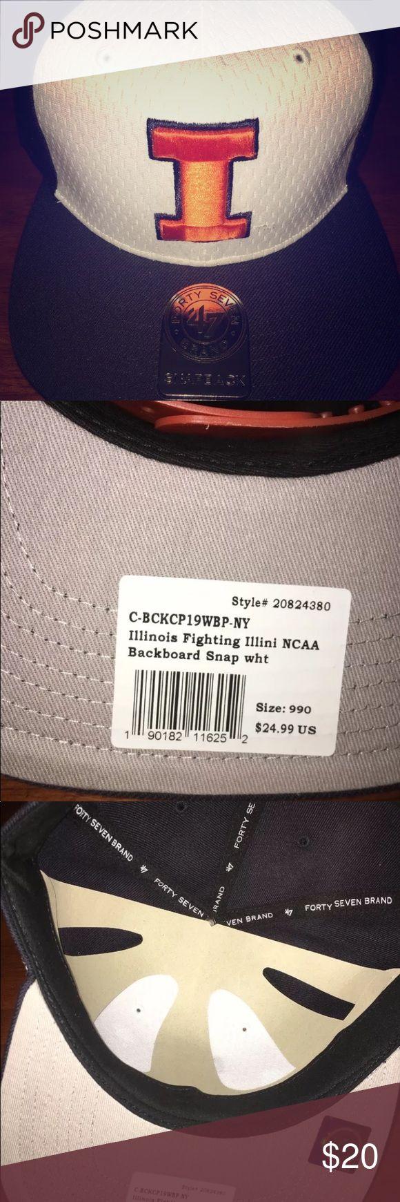 Illinois Fighting Illini NCAA SnapBack Hat Brand New 47 brand Accessories Hats