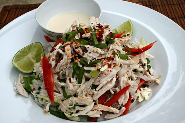 Thai Chicken Salad with light coconut dressing