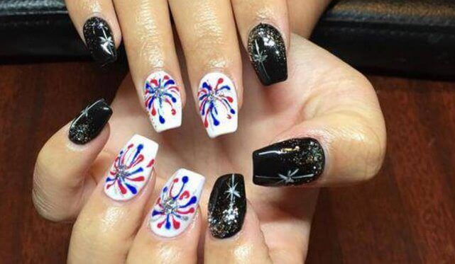 awesome rebel flag nail art for short nails