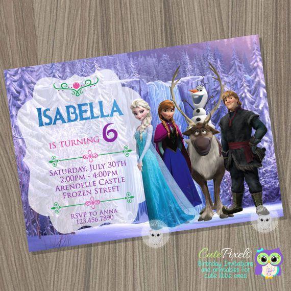 Congelados la invitación Disney congelado congelado