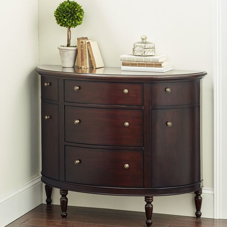 Best Cantor 3 Drawer Half Circle Accent Chest Accent Chest 640 x 480