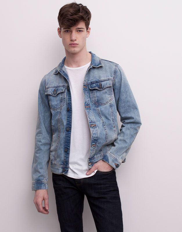 :LIGHT-WASH DENIM JACKET  GOT TO HAVE THIS JACKET> CHEAP AS FUCK