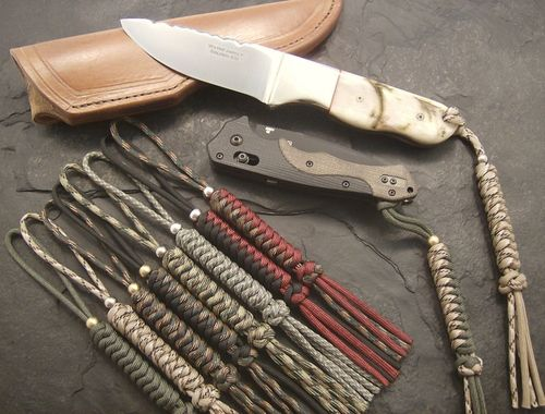 Paracord knife lanyard Style A1