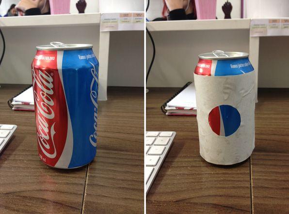 Logo da Pepsi pode ser encontrado nas novas latas de Coca-Cola