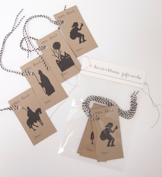 Cadeaulabels voor Sinterklaas by CoandMore on Etsy