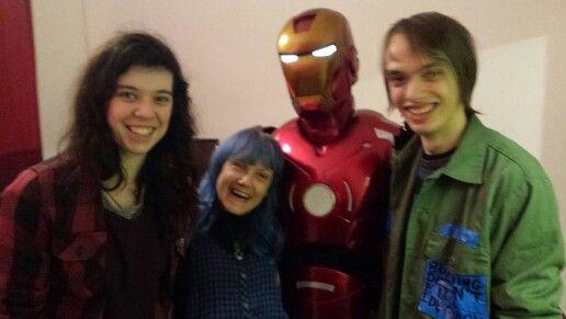 Dan, Ironman, me and Jaz. Friday 4th of December 2015 #partyheros Bath
