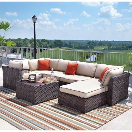 Renway Outdoor Sectional Set With Cocktail Table The