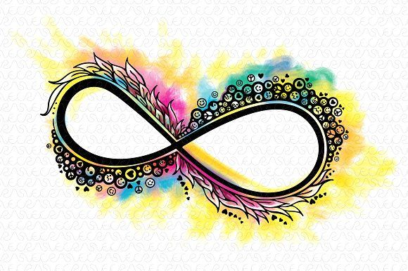 Infinity Colorful Vector Graphic by VecRas on @creativemarket