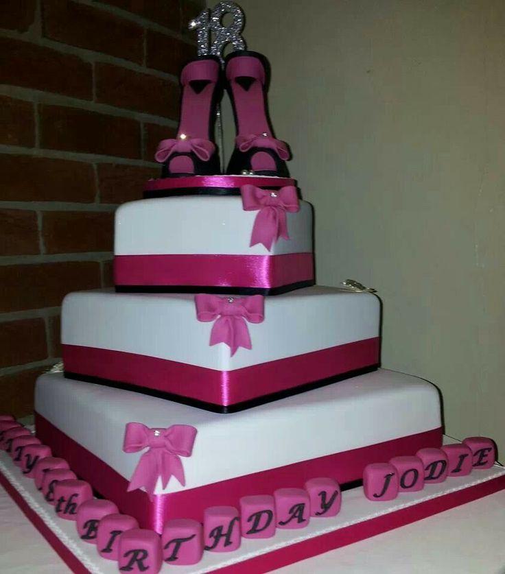 48 best 18th Birthday Cake for girls images on Pinterest