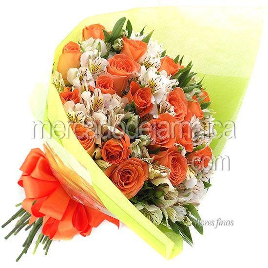 rosas-naranja-en-ramo