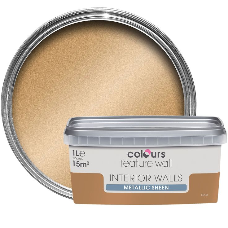Colours Feature Wall Gold Effect Metallic Emulsion Paint 1L,glitter paint | Departments | DIY at B&Q