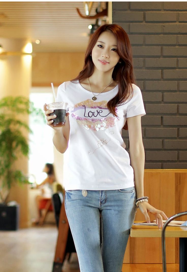 华人健康之友社区: Korean short-sleeved T-shirt half sleeve shirt ...