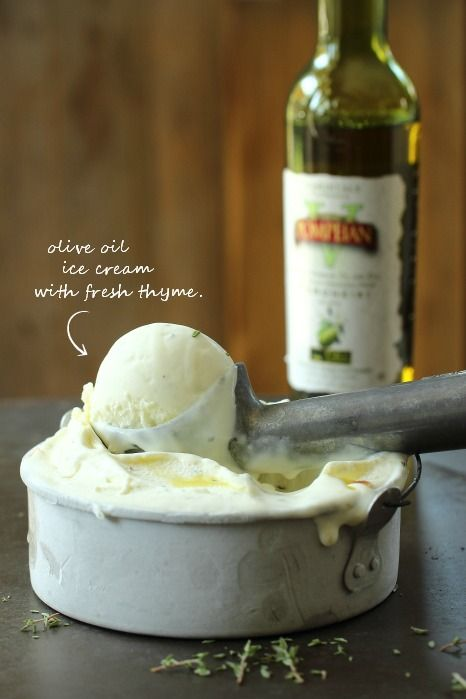 Olive Oil Ice Cream with Thyme and Toasted Pine Nuts | Jeni's Splendid Ice Creams at Home