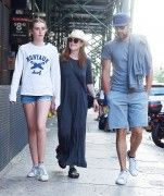 HQ Utopia: Julianne Moore, walks with look-a-like daughter Liv and hubby Bart Freundlich in while out for lunch in Tribeca, New York 7.20.16 x136 HQ's