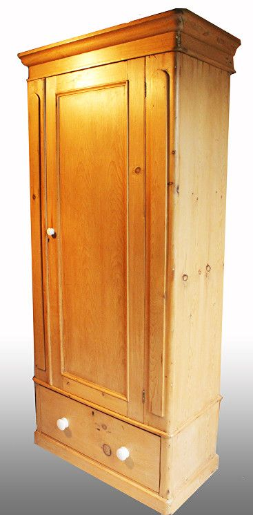 Victorian Pine Single Wardrobe for sale