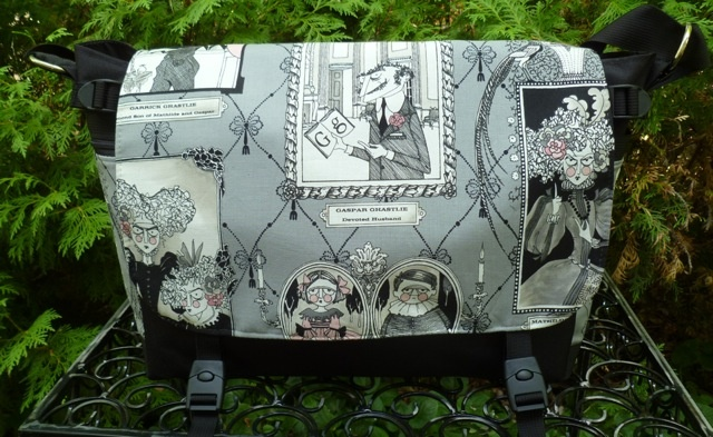 Ghastlie Gallery Lynx Deluxe Messenger Bag by Zoe's Bag Boutique