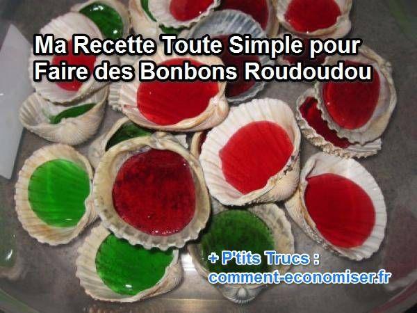 Ma Recette Toute Simple pour Faire des Bonbons Roudoudou. Découvrez l'astuce ici : http://www.comment-economiser.fr/recette-roudoudou-bonbon.html