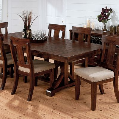 Urban Lodge Dinette Table With 6 Side Chairs   Bernie And Phyls