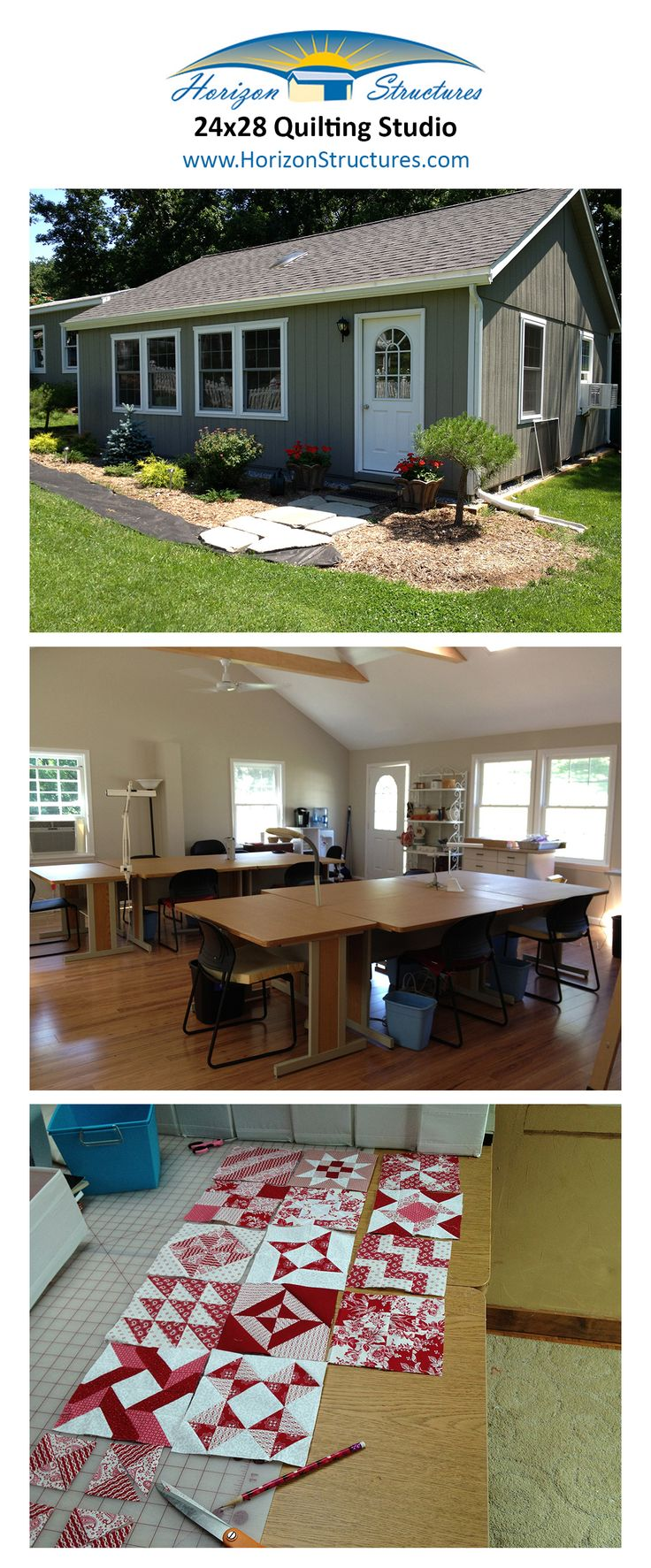 Lancaster pa prefab 2 car garage and 2 story garage manufacturer gears - 24x28 Modular Double Wide Garage Modified To Create A Quilting Studio