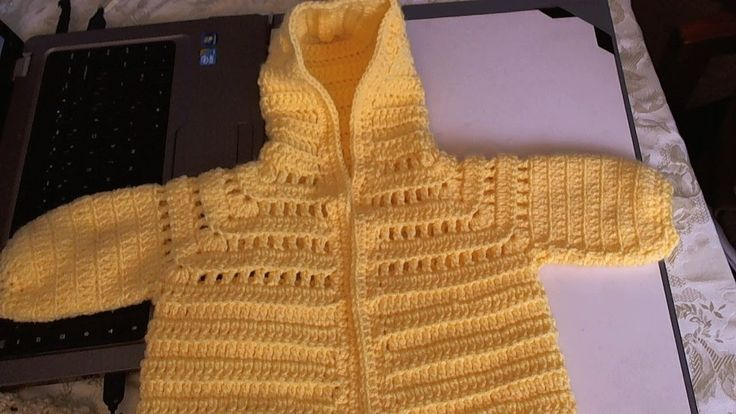 Easy to Crochet Baby Hoodie Sweater - Video 1