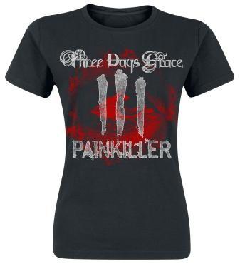 "Three Days Grace T-Shirt, Women ""Bloodshot"" black • EMP"