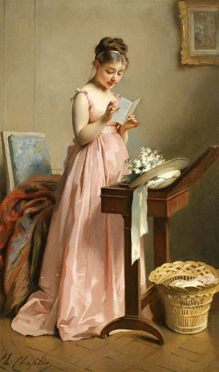 Girl reading. Charles Chaplin (French, 1825-1881). Oil on canvas. His early works, from 1848 to 1851, are characterized by a concern for rea...