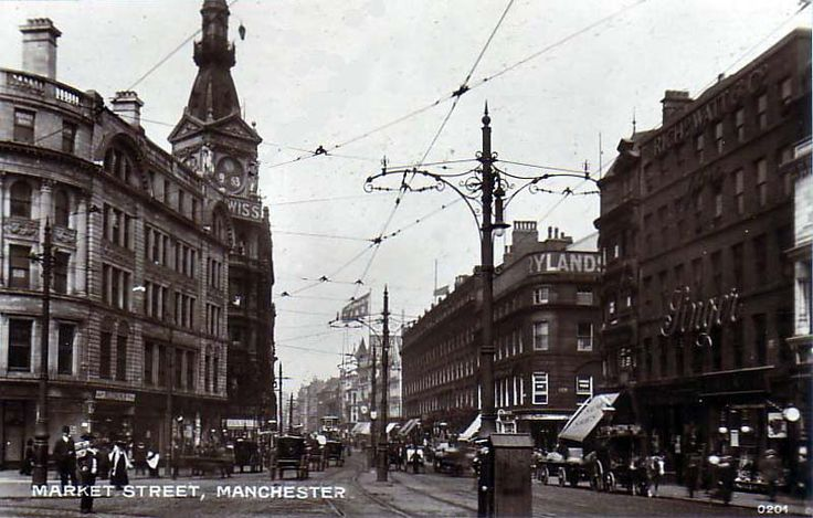 Lancashire manchester__market_street  Where my Grandfather Bowcott was from