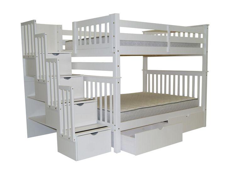 full over full bunk bed with storage kinderzimmeretagenbetten - Hausgemachte Etagenbetten Fr Mdchen