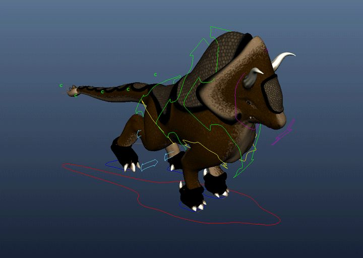 """Quadruped Running Cycle  """"Gurthang & the Seed"""" By Christian Moncada"""