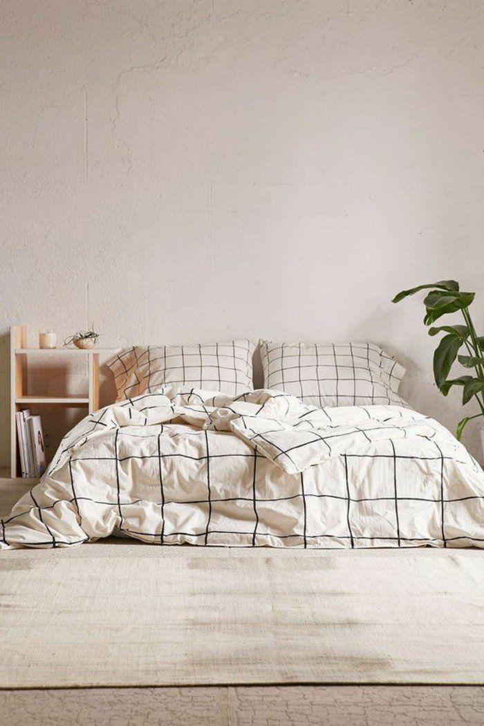 couverture de lit beige tapis beige mur beige interieur taup chambre a coucher moderne