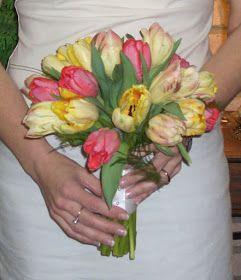 Parrot Tulip Bridal Bouquet by Stein Your Florist Co. #tulips #wedding #bridalbouquet