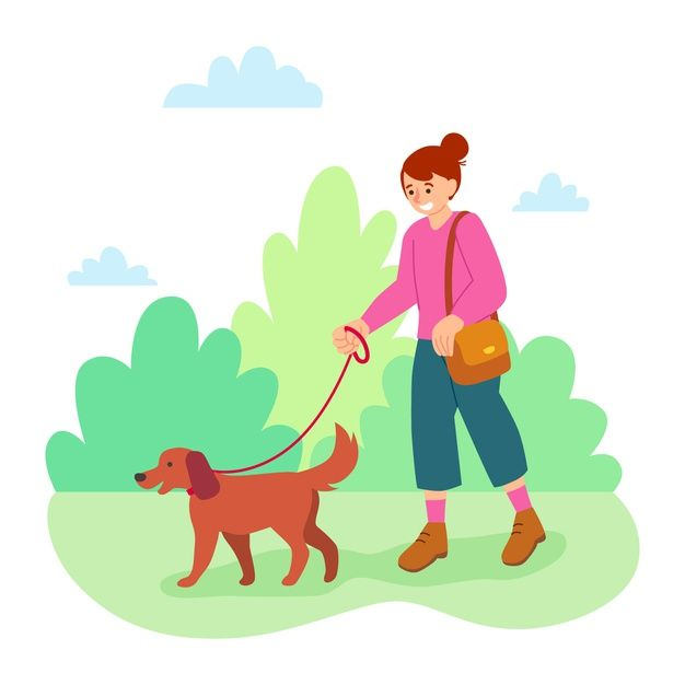 Download Woman Walking Her Dog For Free Cat Vector Dog Icon She Dog