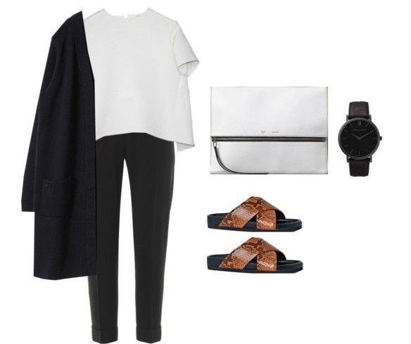 Minimal + Classic: spring pant & sandal look