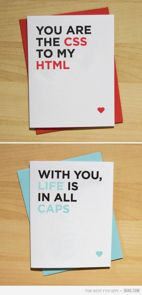 Our interactive folks think this is quite clever.: Valentine'S Day, Cute Cards, Geeky Cards, Techie Design, Quotes, Valentine Day Cards, Design Geek, Greeting Cards, Funny Cards