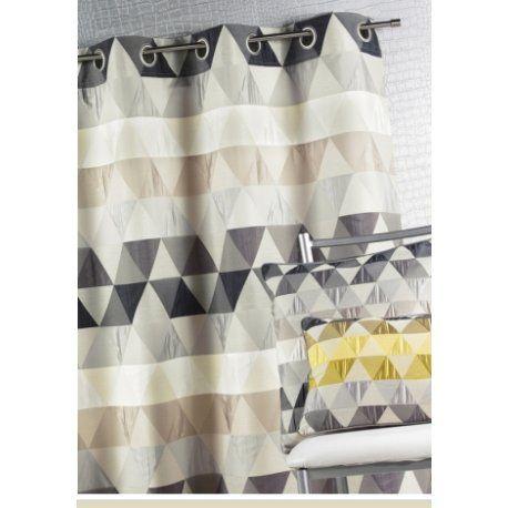 best rideau aura x cm gris with la redoute voilages. Black Bedroom Furniture Sets. Home Design Ideas