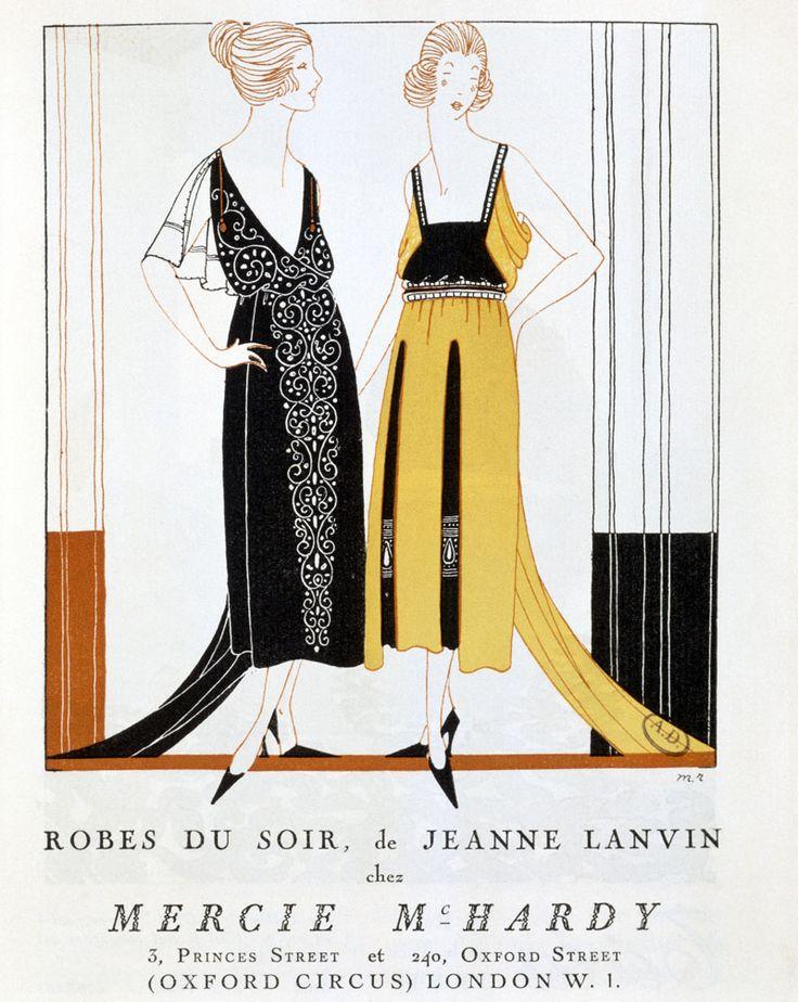 "Anuncio para Le Bon Ton con las ""robes du soir"" de Lanvin en 1920 - © Gianni Dagli Orti/Corbis"